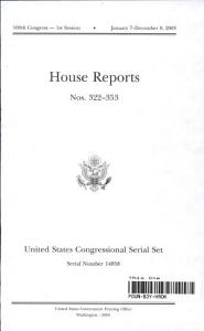 United States Congressional Serial Set  Serial 14858  House Reports Nos 322 353 PDF