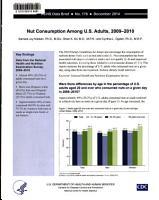 Nut Consumption Among U S  Adults  2009 2010 PDF