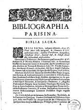 Bibliographia Parisina, hoc est Catalogus omnium librorum Parisiis, anno 1649 inclusive excusorum