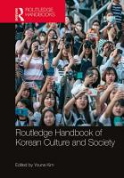 Routledge Handbook of Korean Culture and Society PDF