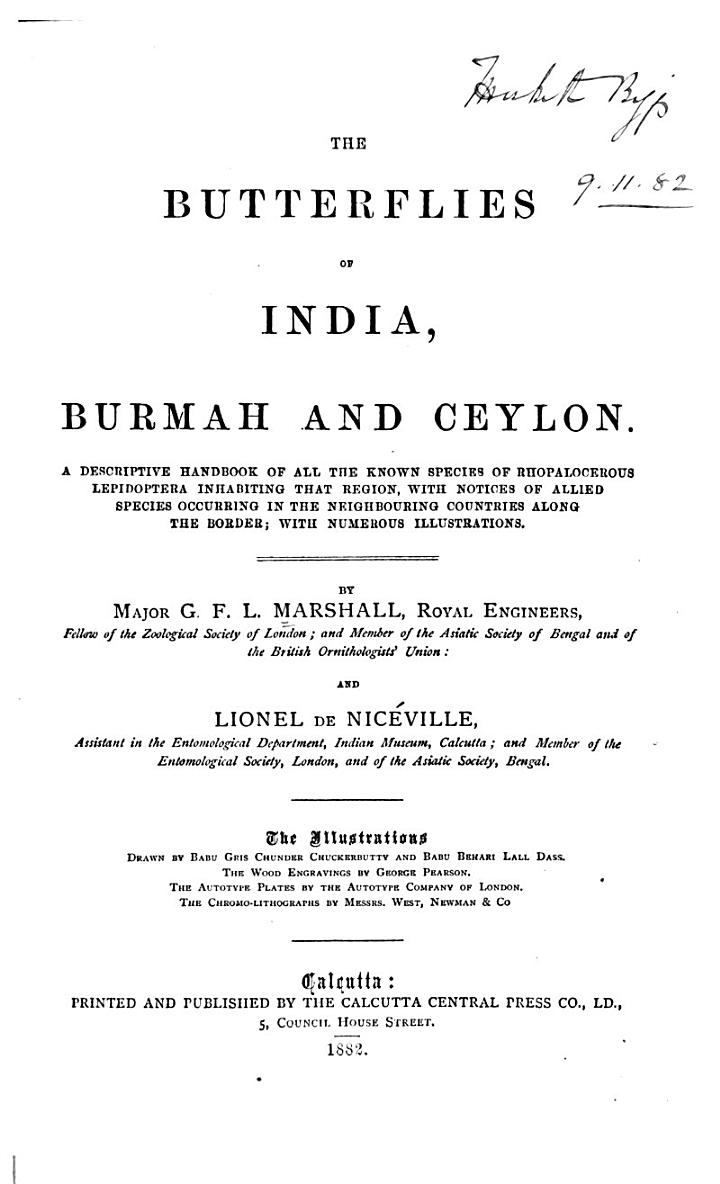 The Butterflies of India, Burmah and Ceylon