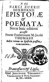 Epistolae & poemata: novae huic editioni accesit praeter praefationem M. Jacobi Thomasii index ...