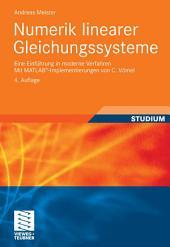Numerik linearer Gleichungssysteme: Eine Einführung in moderne Verfahren. Mit MATLAB®-Implementierungen von C. Vömel, Ausgabe 4