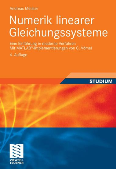 Numerik linearer Gleichungssysteme PDF
