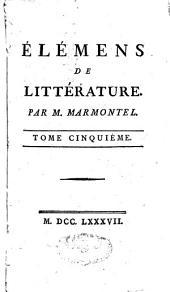Eléments de littérature: Volume5