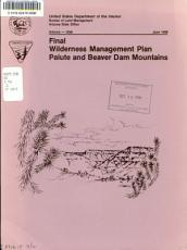 Final Wilderness Management Plan  Paiute and Beaver Dam Mountains Wilderness PDF
