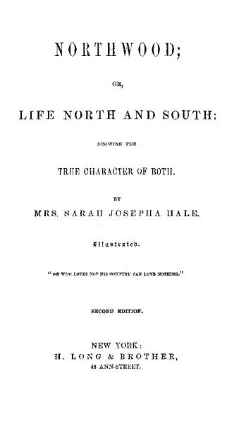 Download NORTHWOOD  OR  LIFE NORTH AND SOUTH   SHOWING THE TRUE CHARACTER OF BOTH Book