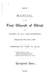 Manual of the Church and Names of All the Members from the Year 1735 to Nov. 1, 1885