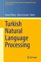 Turkish Natural Language Processing PDF