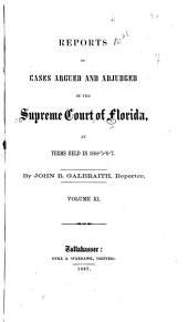 Cases Adjudicated: Volume 11
