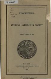 Proceedings of the American Antiquarian Society: Volumes 19-20