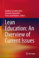 Lean Education  An Overview of Current Issues PDF