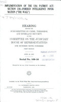 Implementation of the USA Patriot Act PDF