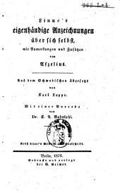 Linné's eigenhändige Anzeichnungen über sich selbst