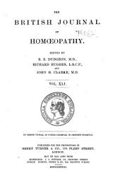 The British Journal of Homoeopathy: Volume 41