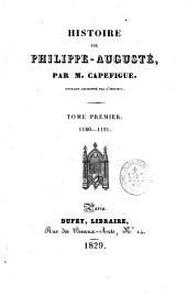 Histoire de Philippe-Auguste: Volume1