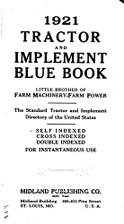 Tractor And Implement Blue Book The Standard Tractor And Implement Directory Of The United States  Book PDF