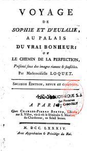 Voyage de Sophie et d'Eulalie au palais du vrai bonheur ou le chemin de la perfection lde