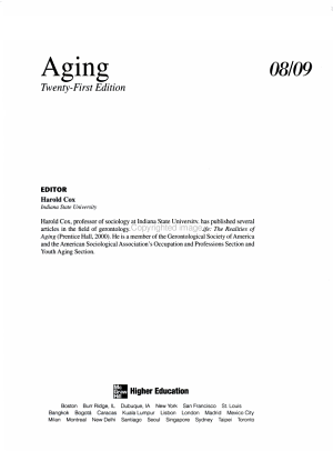Annual Editions  Aging 08 09 PDF