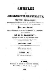 Annales de philosophie chrétienne: Volumes30à31