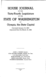 Journal of the House of Representatives of the Territory of Washington