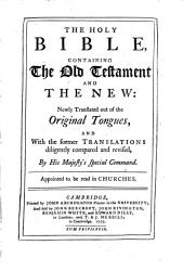The Holy Bible Containing The Old Testament And The New  Book PDF