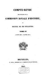 Compte-rendu des séances de la Commission Royale d'Histoire: Volume4;Volume20