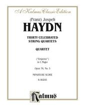 String Quartet No. 77 in C Major, Opus 76, No. 3: String Quartet (Miniature Score)