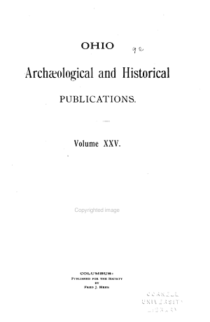 Ohio Arch  ological and Historical Publications PDF