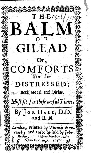 The Balm of Gilead Or  Comforts for the Distressed  Etc   With a Portrait
