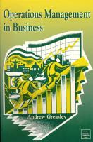Operations Management in Business PDF