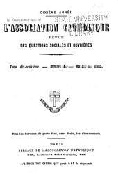 Le Mouvement social: Revue catholique internationale ..., Volume19