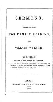 Sermons, Chiefly Designed for Family Reading, and Village Worship