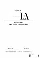 PMLA  Publications of the Modern Language Association of America PDF