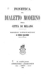 Fonetica del dialetto moderno della città di Milano