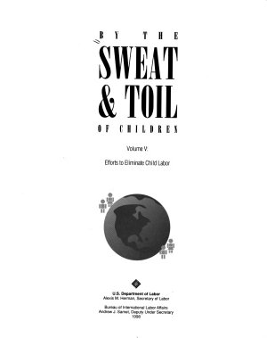 By the Sweat and Toil of Children  Efforts to eliminate child labor PDF