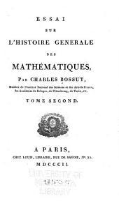 Essai sur l'histoire générale des mathématiques: Volume2