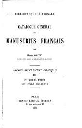 Catalogue général des manuscrits français: Ancien supplément français. nos. 6171-15369. 1895-96. (3 v.)