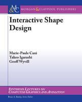 Interactive Shape Design PDF
