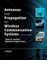 Antennas and Propagation for Wireless Communication Systems PDF