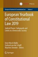 European Yearbook of Constitutional Law 2019 PDF