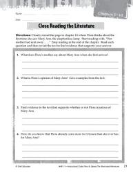 Flora   Ulysses  Close Reading and Text Dependent Questions PDF