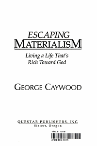 Escaping Materialism