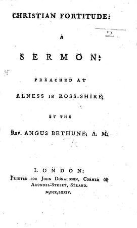 Christian Fortitude  a sermon  etc PDF