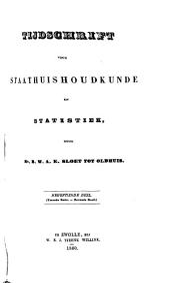 Tijdschrift voor staathuishoudkunde en statistiek: Volumes 19-20