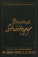 Beyond Strategy PDF