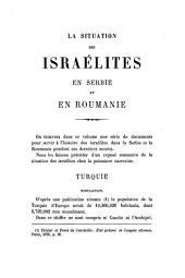 La situation des Israélites en Serbie et en Roumanie