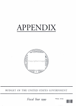 Appendix Budget of the United States Government PDF