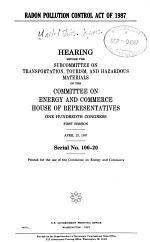 Radon Pollution Control Act of 1987