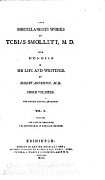 The life of Smollett  by Robert Anderson  Roderick Random PDF